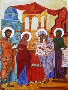 La Sainte Famille au temple- Siméon et Anne